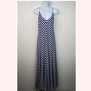 Polo Ralph Lauren Stripe V-Neck Sleeveless Maxi
